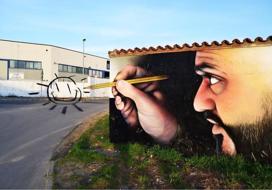 Cosimo Caiffa el artista que da vida a los muros