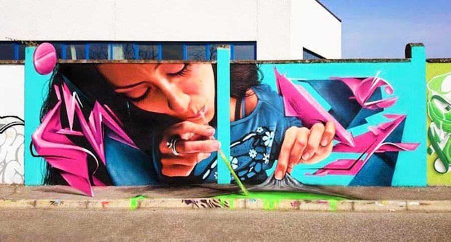 El artista italiano da vida a los muros
