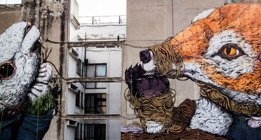 Ericailcane, ilustración, street art y metáforas