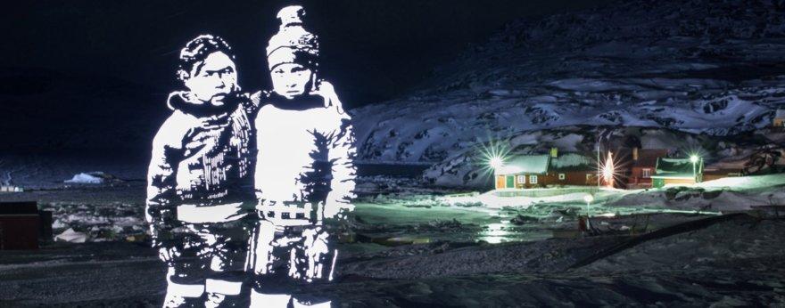 Fabrice Wittner pintó los cielos del Polo Norte