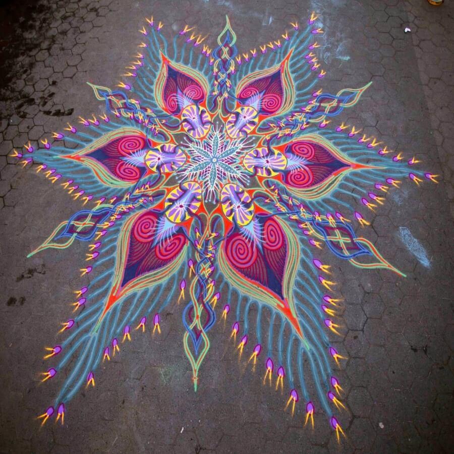 street art hecho con arena