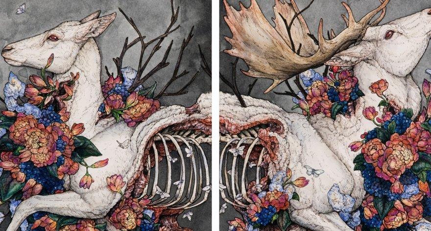 Lauren Marx crea mundos con fauna surrealista