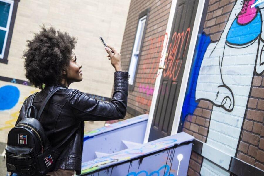 La app te permitirá crear piezas de graffiti o street art