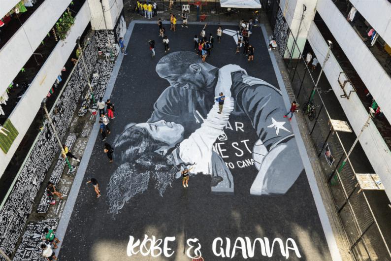 Artistas urbanos se unieron a los homenajes del basquetbolista