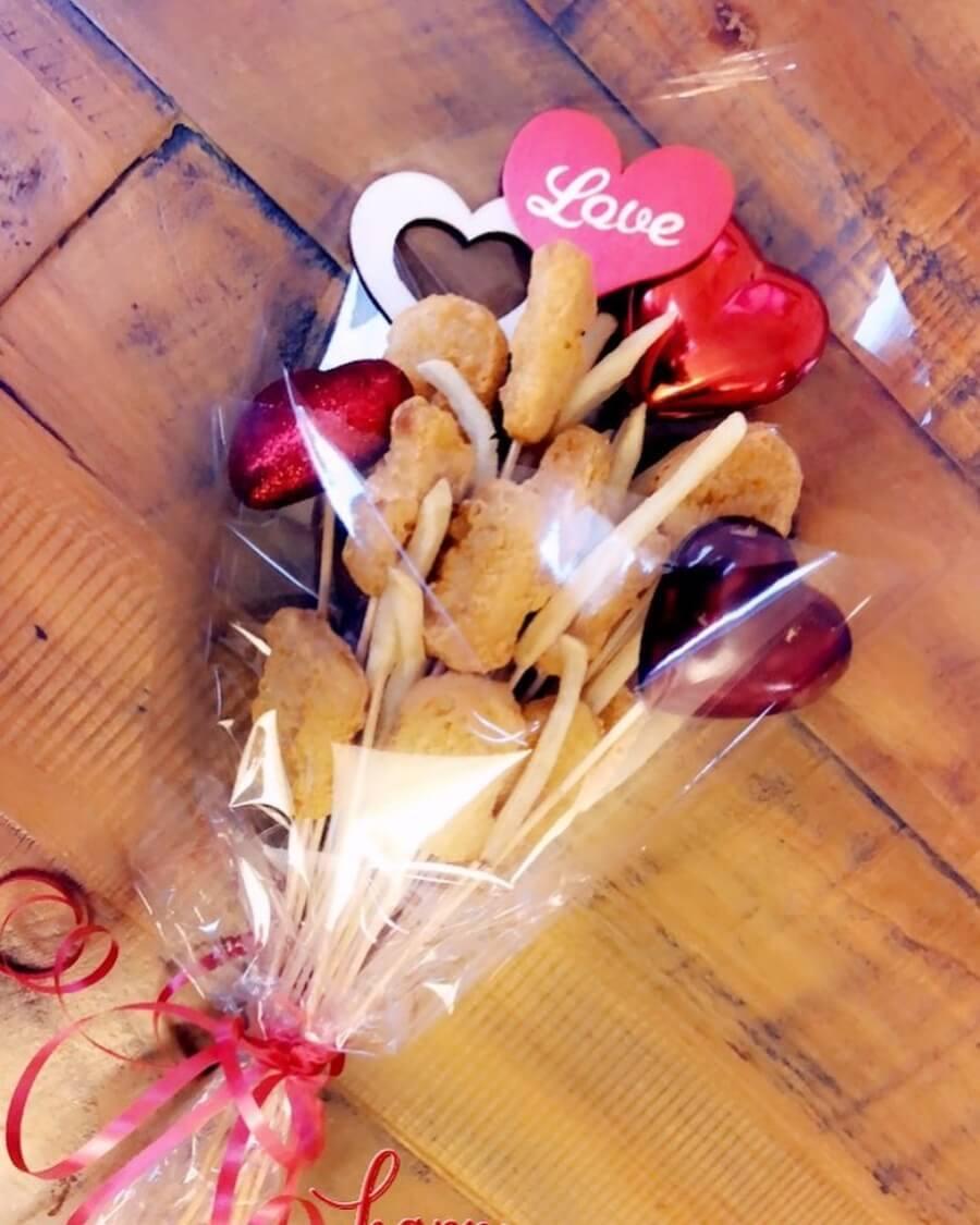 Nuggets de pollo para el día de San Valentín