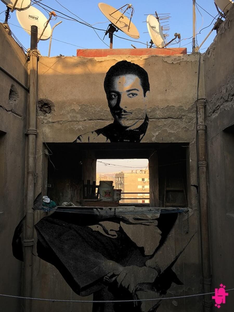 Qarm Qart decora con street art las Calles de El Cairo