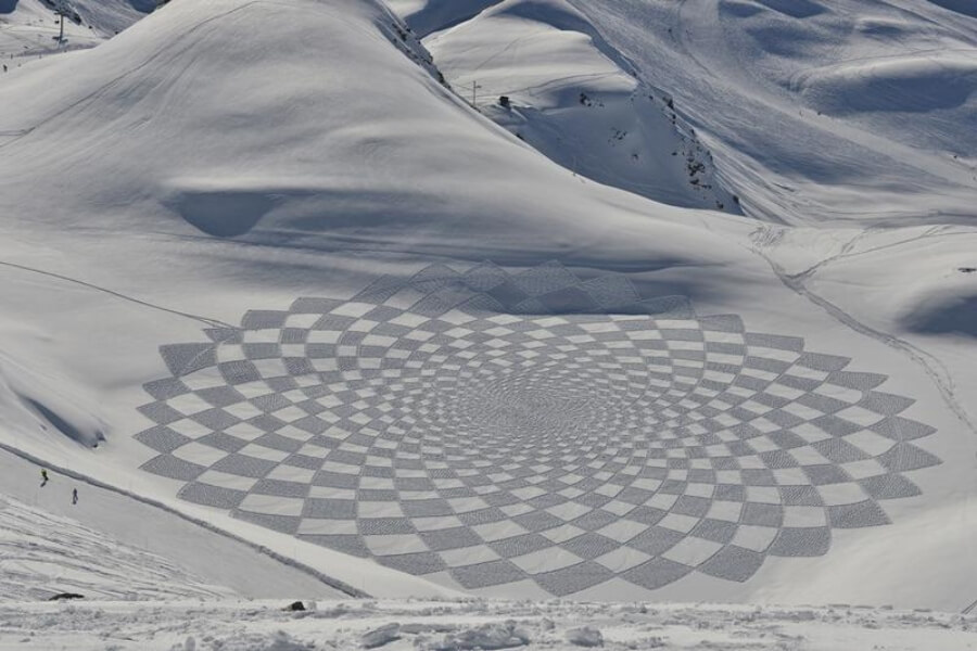 Snow Art de Simon Beck