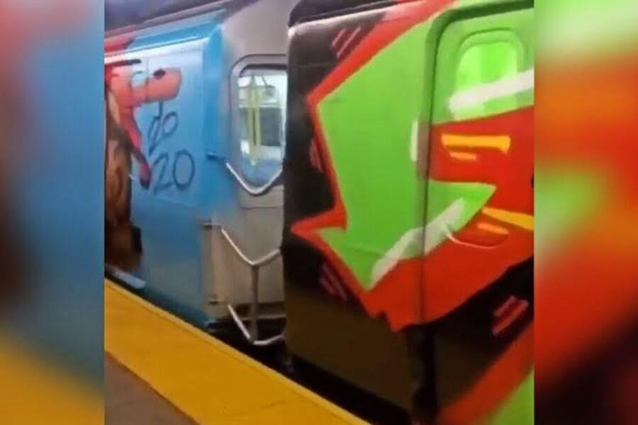 Subway de Nueva York fue vandalizado con graffiti