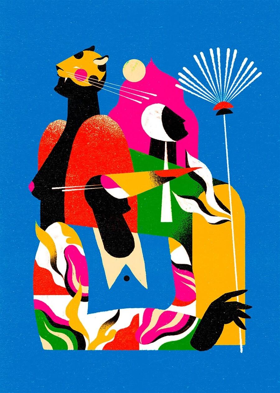 Flora, fauna y la imagen femenina son los ejes de este ilustrador