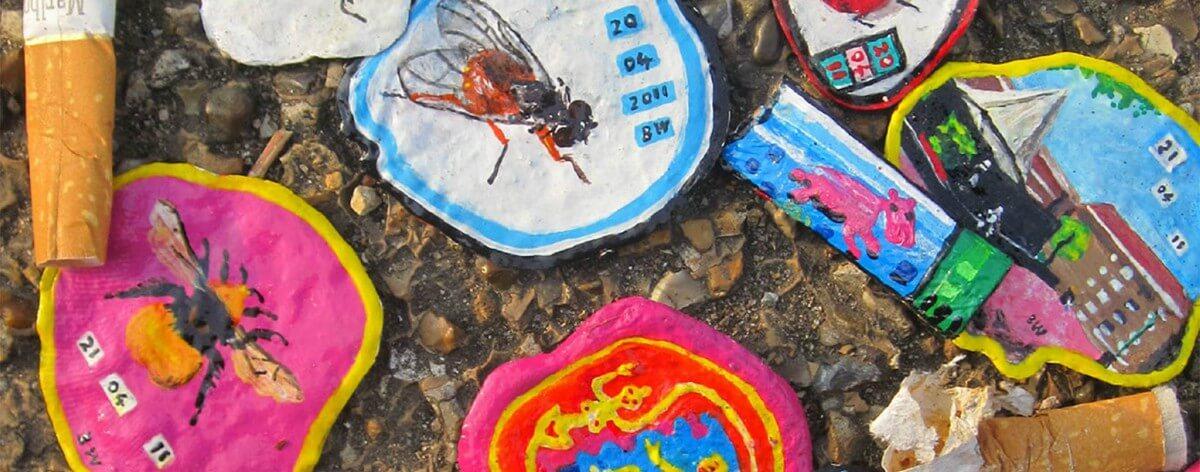 Ben Wilson y sus pinturas con chicles callejeros