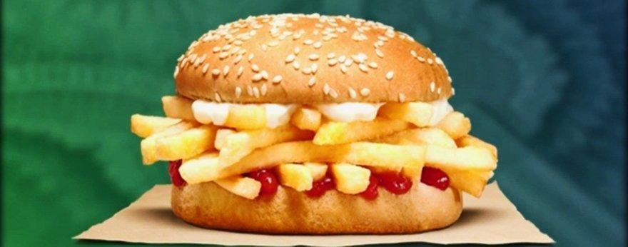 Burger King presentó su hamburguesa de papas fritas