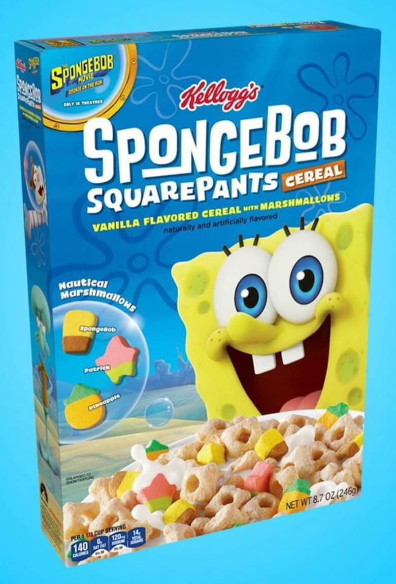 SpongeBob's cereal will be out soon