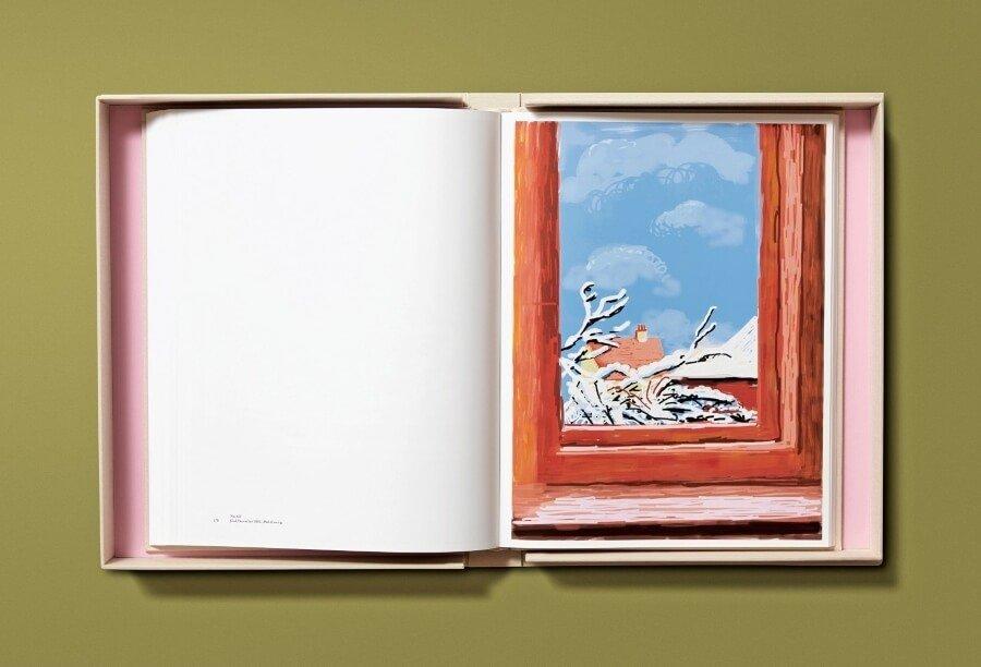 David Hockney presentó libro de dibujos