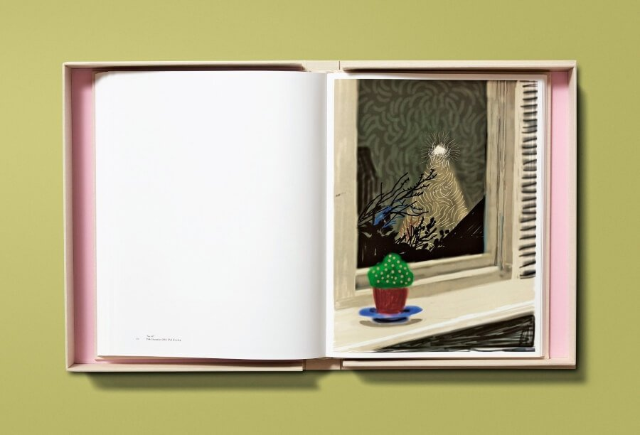 The artist presented a book of drawings