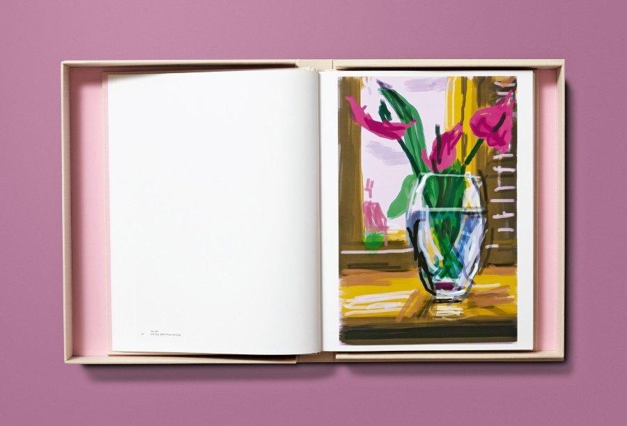 David Hockney presented book of drawings