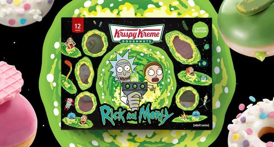 Donas de Rick and Morty a la venta en Krispy Kreme