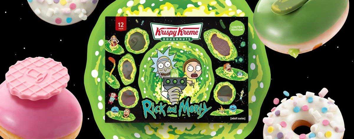 Donas de Rick and Morty a la venta en Krispy Kreme