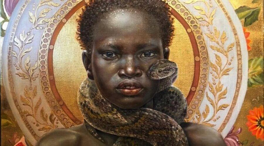 La artista retrata un mundo de mujeres negras