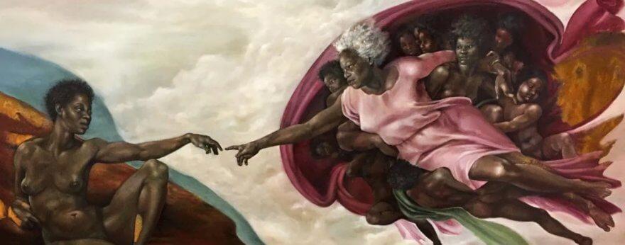 Harmonia Rosales plasma a mujeres negras en su arte