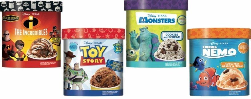 Helados de Disney y Pixar con sus mejores películas