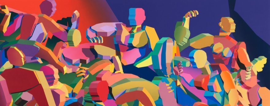 Jonathan Chapline convierte sus pinturas en esculturas