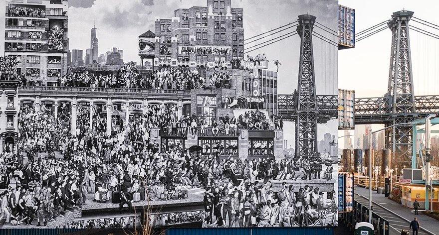 JR retrató el rostro de más de 1000 habitantes en Nueva York
