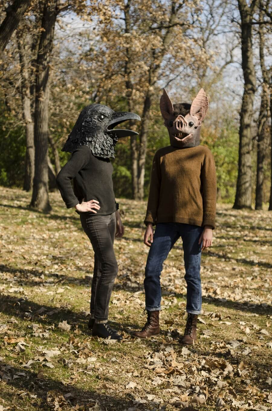 Liz Sexton evoca la fauna con estas máscaras