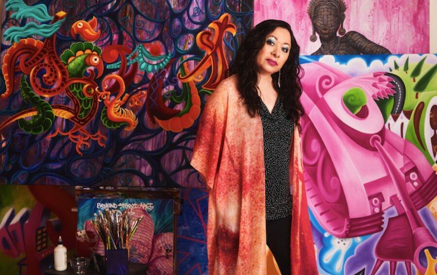 Lady Pink la primer mujer veterana del graffiti