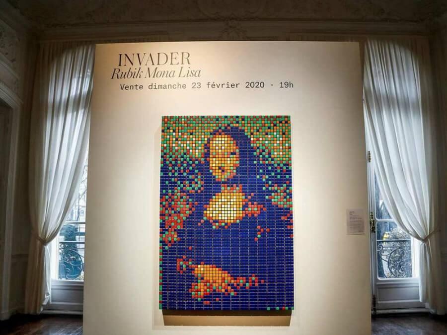 Mona Lisa con cubos Rubik