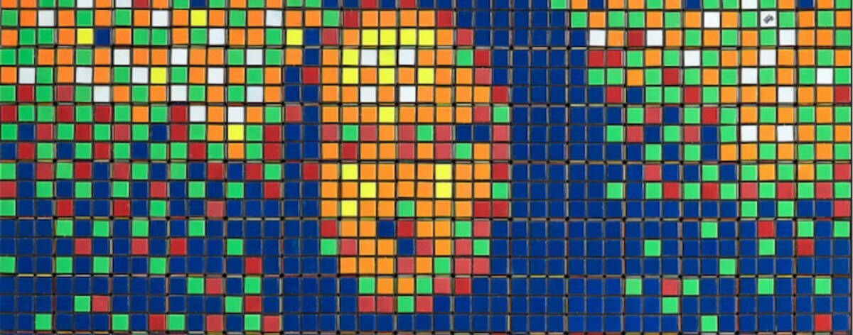Mona Lisa con cubos Rubik hecha por Invader