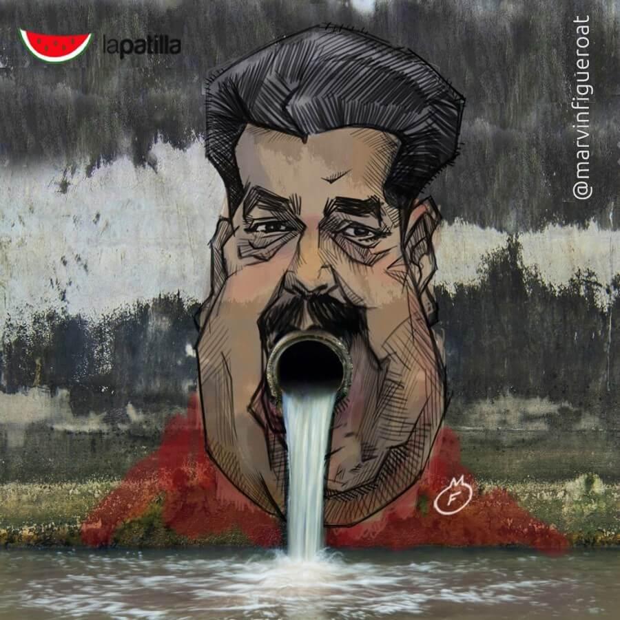 Mural de Nicolás Maduro