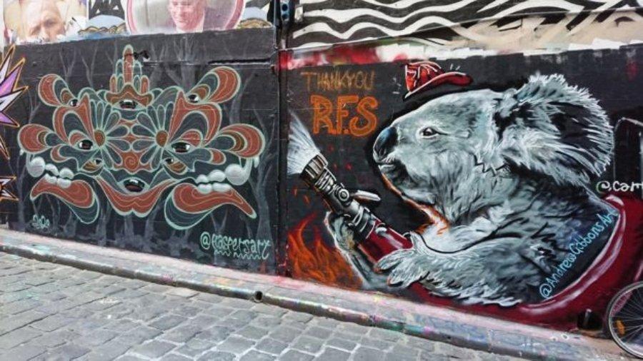 Murales que rinden tributo a bomberos