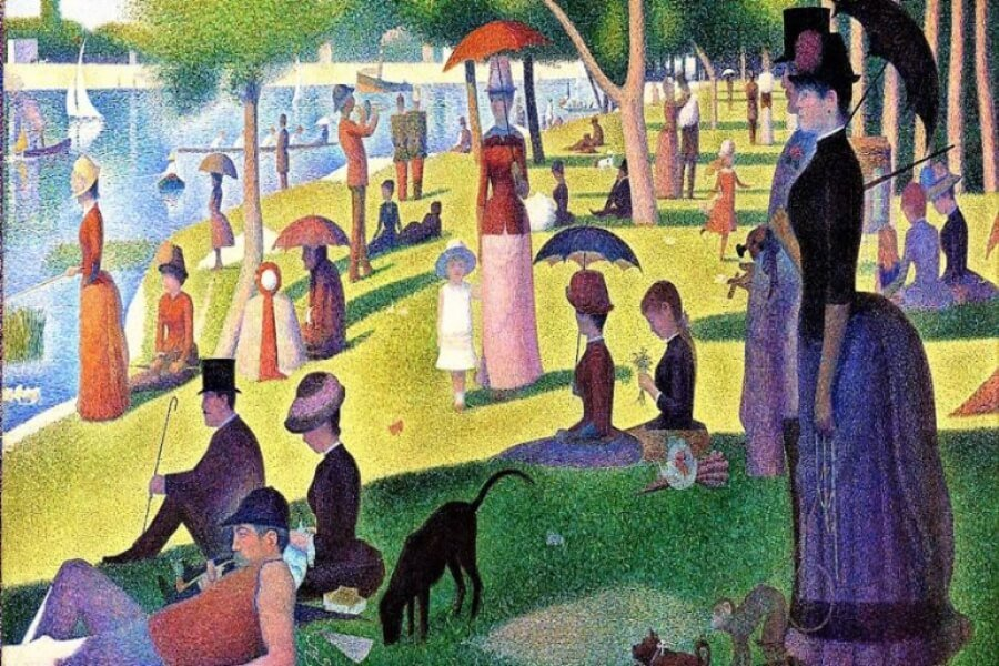 Artworks by Georges Seurat recreated by art enthusiasts
