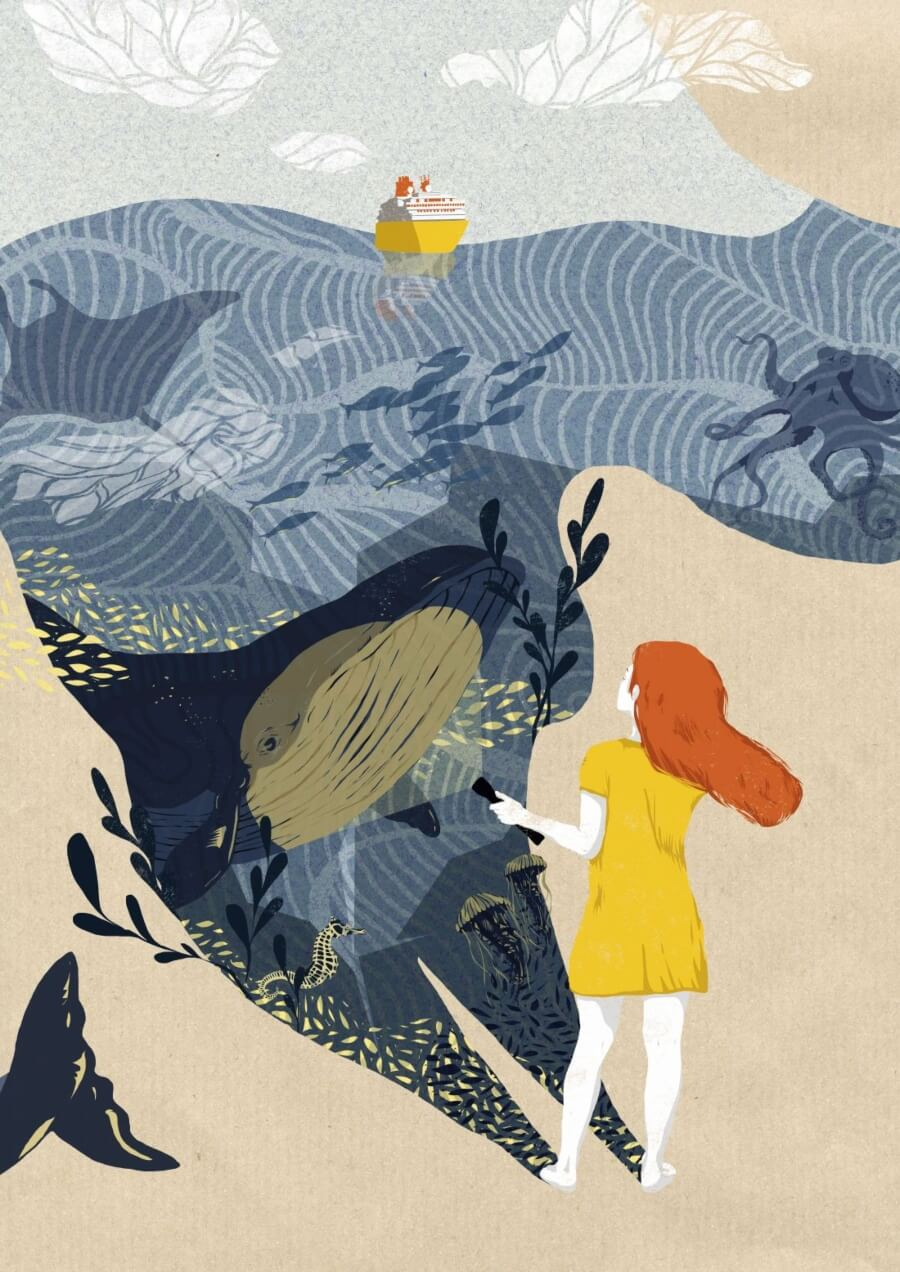 Silvia Stecher la ilustradora de las texturas