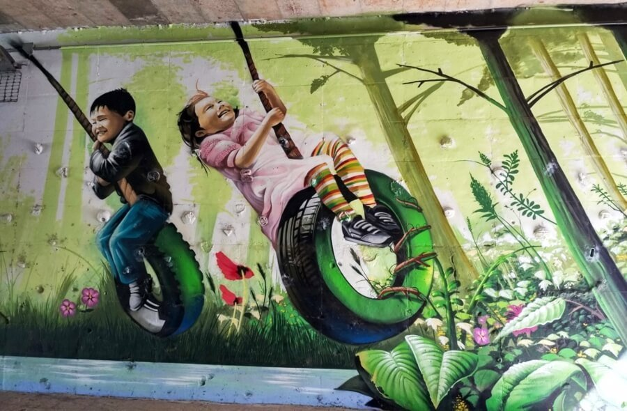 Urban art invades this Spanish city