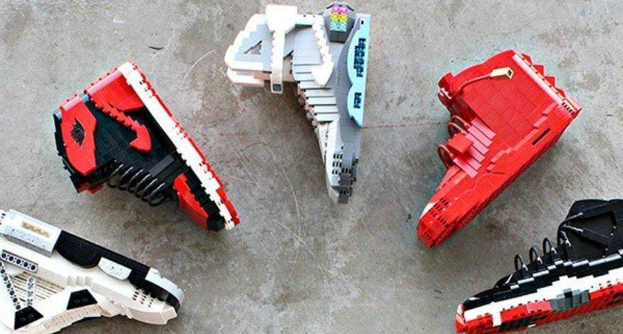 Tom Yoo y sus esculturas sneakers de LEGO