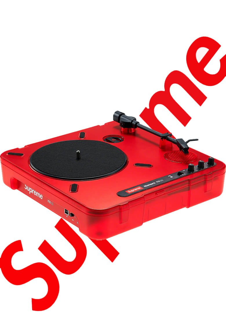 Supreme and Numark turntable for SS20 edition
