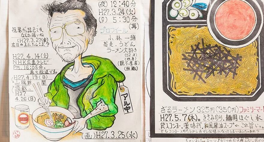 Japanese chef documented the delights he ate for 32 years
