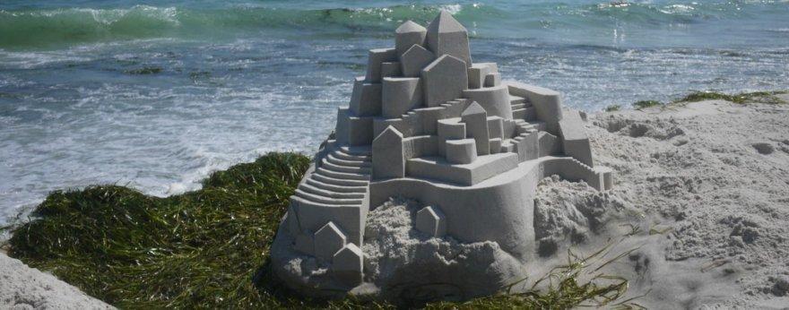 Calvin Seibert y sus castillos de arena