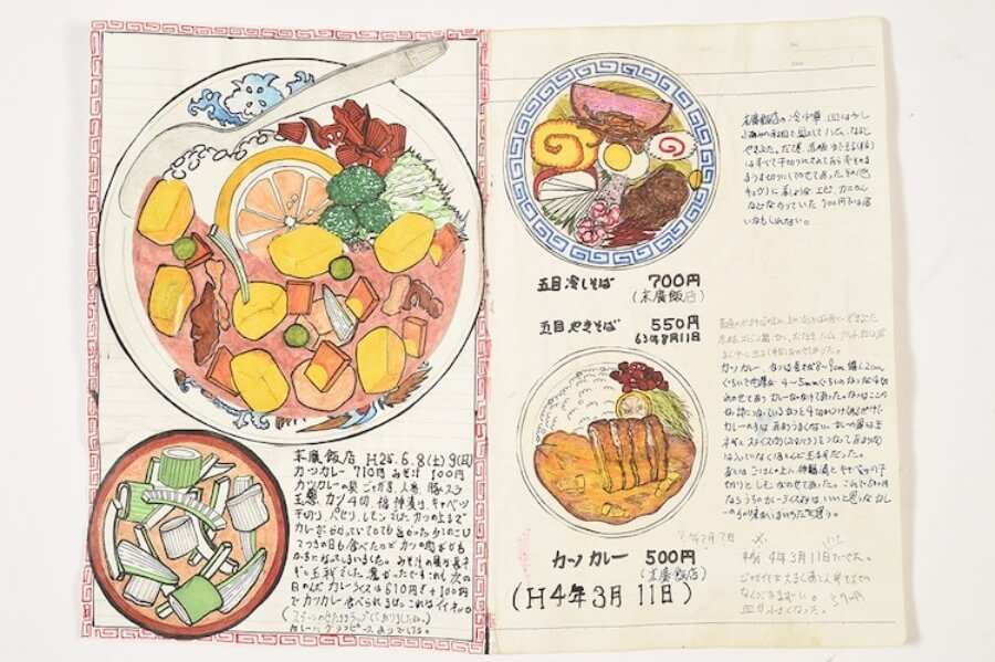 Japanese chef illustrates the dishes he's eaten in 32 years