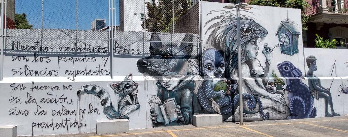 El Goethe Institut recibe artistas que plasman esperanza en sus muros