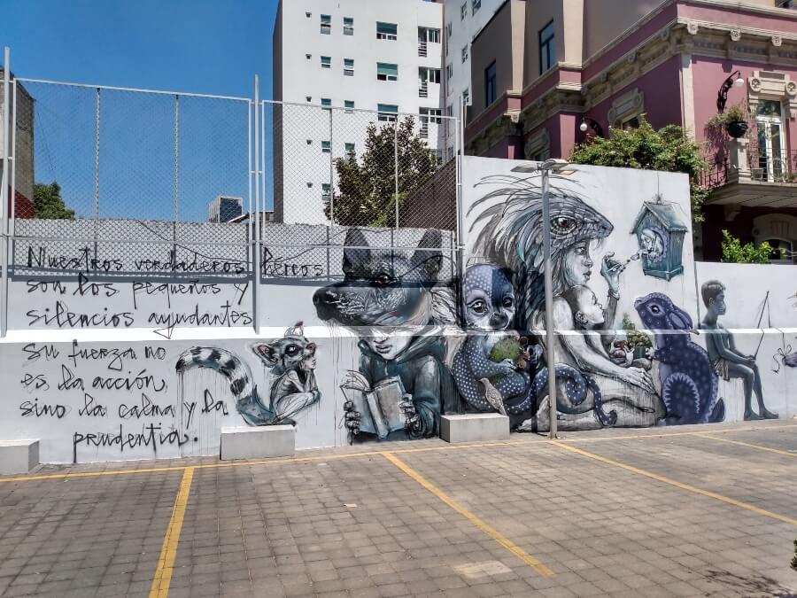 Hera llegó para colaborar con 3 artistas en este mural