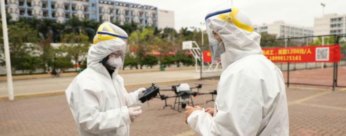 Drones y robots contra el coronavirus
