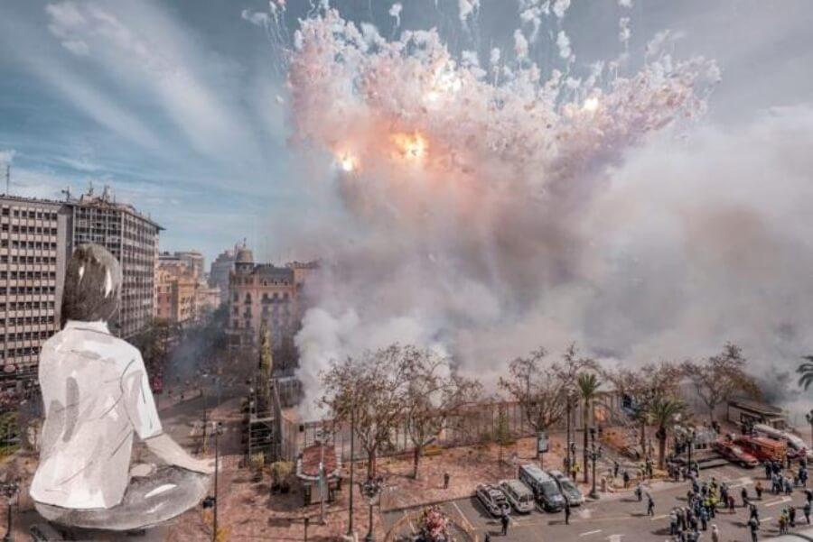 el artista recreará obra en falla de Valencia