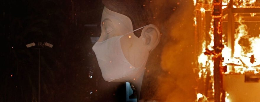 Escif's Falla de Valencia is burned without public due to Covid19