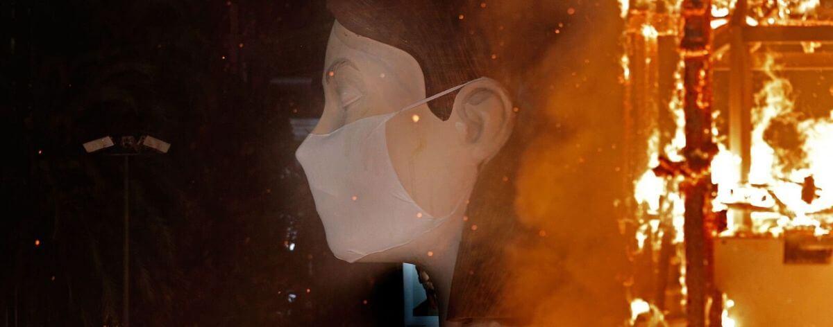 Falla de Valencia de Escif es quemada sin público por Covid19