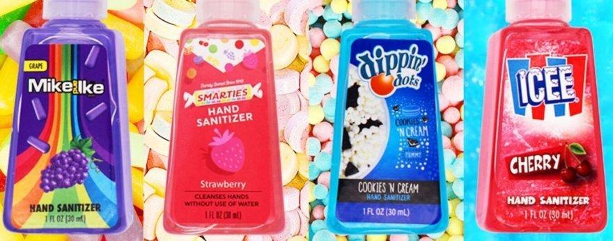 Gel antibacterial inspirado en varios dulces