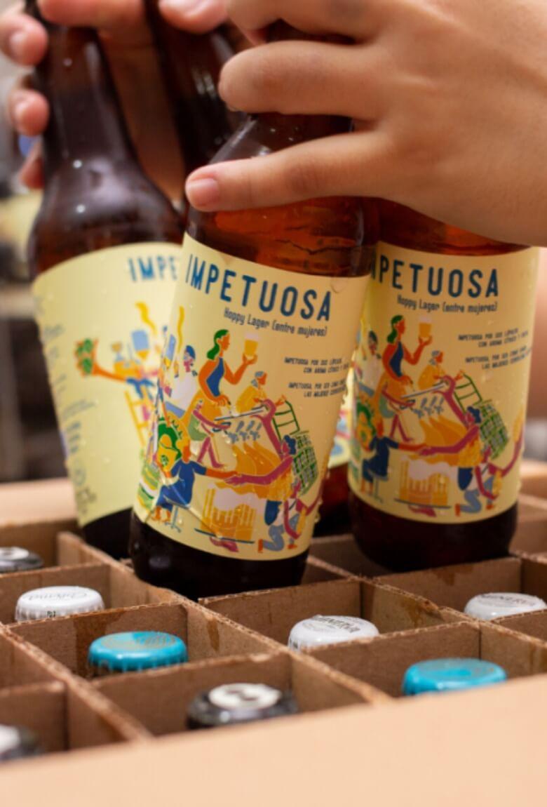 Impetuosa, cerveza elaborada por mujeres productoras