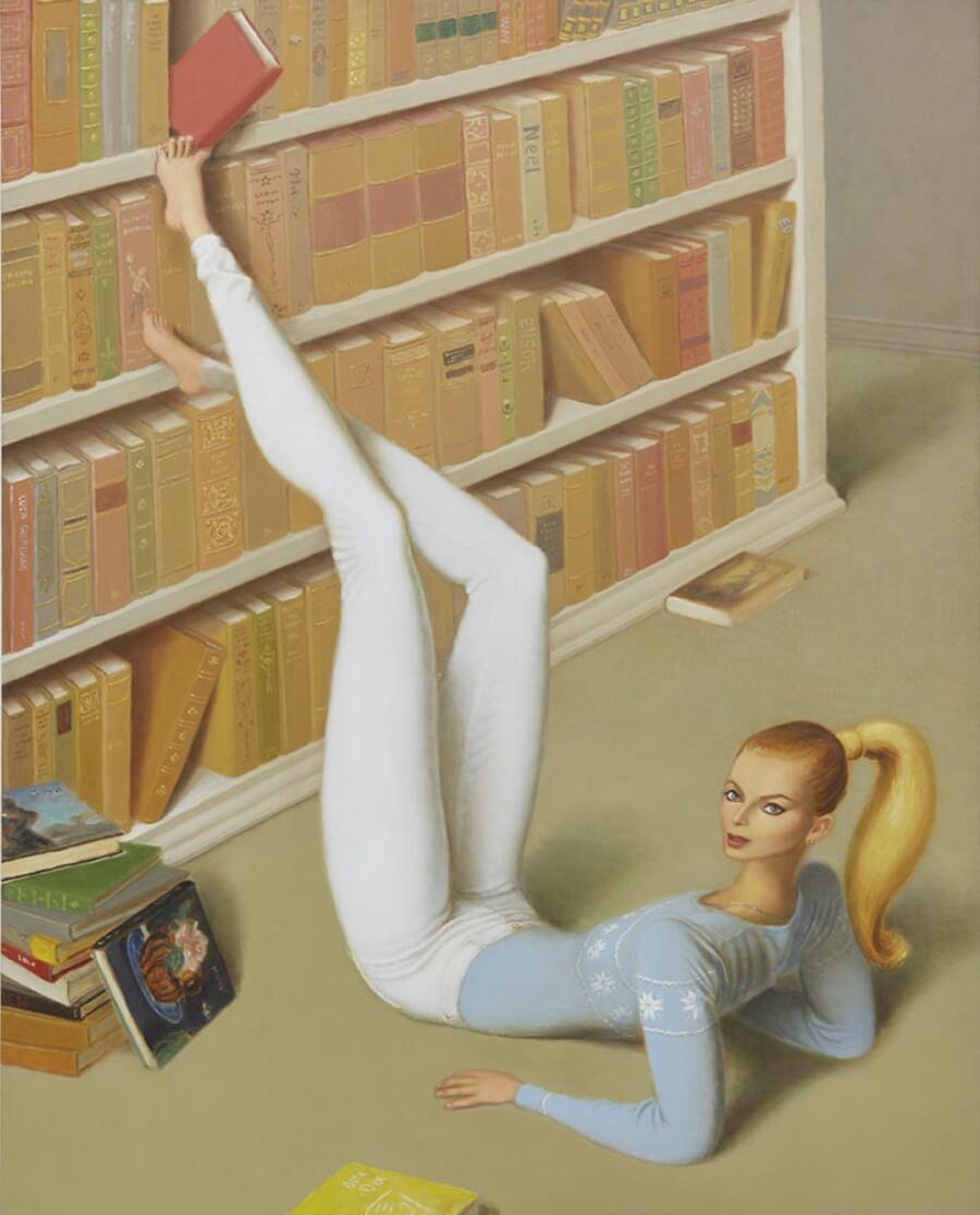 Jonsson Stegnr muestra el power femenino en sus pinturas