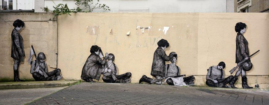 """Levalet vuelve con su pieza de street art """"Sortilèges"""""""
